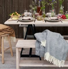Klippan plaids Dining Table, Rustic, Decoration, Nature, Gifts, Furniture, Home Decor, Country Primitive, Decor