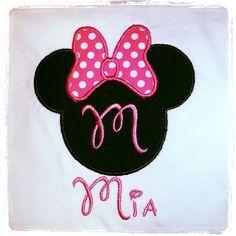 Minnie applique shirt custom details choose by minimunchkinstuff, $16.50