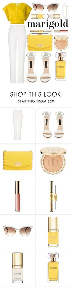 """""""Happier"""" by anthony-ant ❤ liked on Polyvore featuring Jil Sander, ESCADA, Forever New, Mulberry, tarte, Gucci, Dolce&Gabbana, Estée Lauder, Forever 21 and marigold"""
