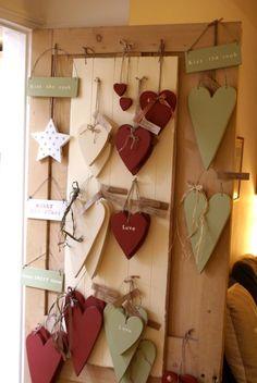 The Little Corner Heart Art, Love Heart, Valentine Decorations, Valentine Cra. My Funny Valentine, Valentine Crafts, Christmas Crafts, Primitive Crafts, Wood Crafts, Diy And Crafts, Wooden Hearts Crafts, Heart Crafts, Valentines Day Decorations