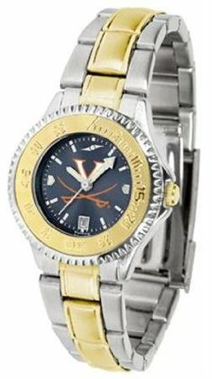 Virginia Cavaliers UVA NCAA Womens Two-Tone Anochrome Watch by SunTime. $93.95. The ultimate fans statement our Competitor Two-Tone timepiece offers men a classic business-appropriate look. Features a 23kt gold-plated bezel stainless steel case and date function. Secures to your wrist with a two-tone solid stainless steel band complete with safety clasp. The AnoChrome dial option increases the visual impact of any watch with a stunning radial reflection similar ...