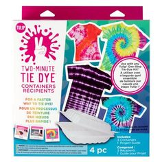 Buy the Tulip® Two-Minute Tie Dye® Containers at Michaels. Use these containers with any Tulip One-Step tie dye kit to make tie dyed magic in just minutes. Tie Dye Kit, Tie And Dye, Tie Dyed, Diy Tie Dye Projects, Tie Dye Crafts, Diy Tie Dye Techniques, Tulip Tie Dye, Tulip Colors, Diy Tie Dye Shirts
