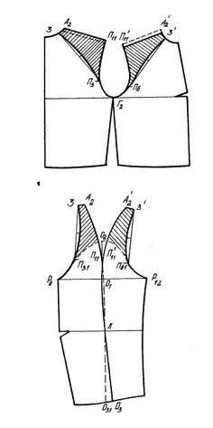 ВГУЭС. Разработка новых моделей одежды с использованием базовых конструкций (Учеб. пособие): 2.3. Приемы конструктивного моделирования третьего вида »