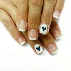 Police week. Heart nails. #PreciousPhanNails