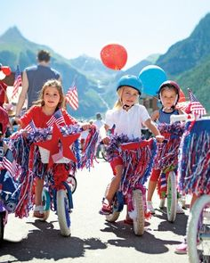 A Wheel Good Time - Tricking out a bike with flag-inspired frills is a long-standing Fourth of July tradition. Follow this parade, and gear up to cruise with star-spangled pride.