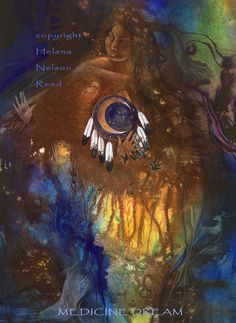Native American Tribal Art Inspired - helena-nelson-Reed feathers