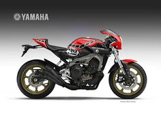 "Motosketches: YAMAHA MT-09 FASTER SON ""Baker"""