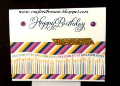 Confetti wishes and Joyful Birthday from www.craftwithronnie.blogspot.com August 5, 2014 post