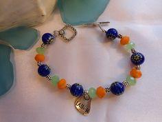 SALE Gypsy bracelet Yoga bracelet  millefiori bracelet by Nezihe1, $18.00