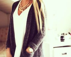 Cozy gray cardigan