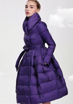 Šiltas pūkinis paltas Elegant Day