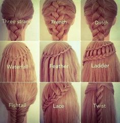ok my goal is to learn how to do all of these braids before school starts back next year
