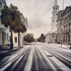 Morning Commute, Photograph by Michael Seekings, Broad Street on a rare snow…