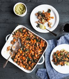 Fall Pasta Bake with Butternut Squash and Brussels Sprout Walnut Pesto — a Better Happier St. Sebastian