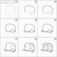 draw random things easy drawings drawing doodle doodles simple sketches fun step caravan cartoon instagram tekenen camper basic sketch practice