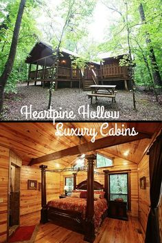 In Hochatown near Beavers Bend State Park, Heartpine Hollow Cabins offers incredible properties with top notch amenities - fireplaces, hot tubs and fire pits are all available at certain cabins.