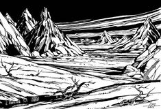 """Avernus, the uppermost plane of the Nine Hells (Larry Elmore, from """"The Nine Hells"""" by Ed Greenwood, Dragon TSR, July The author notes: The uppermost plane of the Nine Hells is ruled by. Chromatic Dragon, Mind Flayer, First Plane, Dying Of The Light, Astral Plane, Guide To The Galaxy, Forgotten Realms, Alien Races, Chaotic Neutral"""