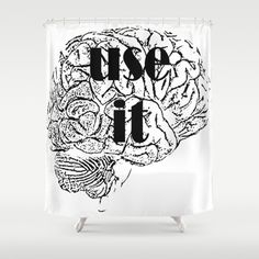 USE IT Shower Curtain by Chrisb Marquez - $68.00