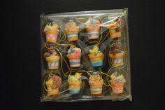 Mini Resin Easter Tree Ornaments 2 Set of 12