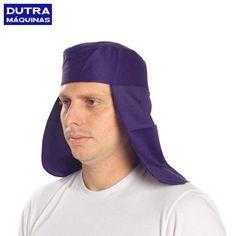 Confeccionada em brim leve, na cor azul, para proteção contra respingos de solda. Cobre a cabeça, testa e nuca com abertura frontal para face.
