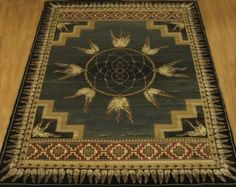 Delectably-Yours.com Dreamcatcher Green Native American Style Area Rug