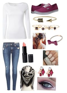 """""""Date night"""" by jbugg2020 ❤ liked on Polyvore featuring White Stuff, rag & bone, Old Navy, Vans, MANGO, Kate Spade, Sole Society and Zad"""