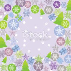 Merry Christmas Card, green, lilac, purple. Round background for text Royalty Free Stock Vector Art Illustration