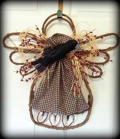 Clever Crow and Pip Berry Grapevine Angel by Windy Willow Designs on Facebook.