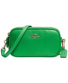 Coach Crossbody Pouch In Polished Pebble Leather