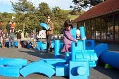 Imagination Playground--loose parts! Open ended playground at the Bay Area Discovery Center