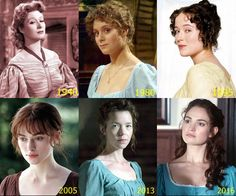 Pride and Prejudice - Elizabeth lovely actress but so wrong for Miss Eliza Bennet Elizabeth Garvey my FAV; Maxwell Martin( Not a Jane Austen true character but a TV Programme about what could have happened at Pemberly ; Pride And Prejudice Elizabeth, Pride And Prejudice And Zombies, Elizabeth Bennett, Darcy And Elizabeth, Jennifer Ehle, Jane Austen Movies, Greer Garson, Becoming Jane, Lily James