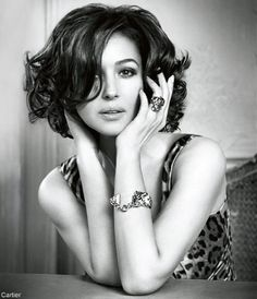 Monica Bellucci (for Cartier) ..... I really would give so much to have my hair like this