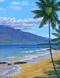 Painting Art of Maui Hawaii Lahaina