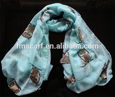 venda quente da moda senhora lenço primavera atacado coruja lenço impresso-Outros Cachecóis & Xales-ID do produto:1986510683-portuguese.alibaba.com