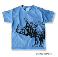 Rhino Graphic Unisex Kids Heavy Weight Crew by EpisodeGraphics