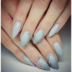 paznokcie żelowe ombre srebrne - Szukaj w Google