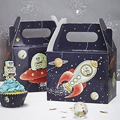 Ginger Ray Spaceship & Robot Kids Party Boxes x 5 - Space Adventure Party