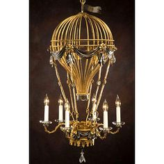 I have to have this in my master bedroom!   I love hot air balloons and chandeliers and this is just so me!