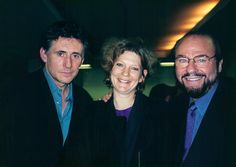 Carey Lovelace with James Lipton and Gabriel Byrne after a taping of Inside the Actors Studio