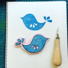 Rubber stamp carving | Printmaker | handmade