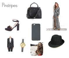 """Pinstripes"" by lildae on Polyvore featuring DKNY, Christian Louboutin, Givenchy and Johnny Loves Rosie"