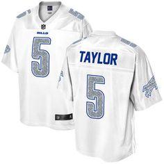Men's Buffalo Bills Tyrod Taylor NFL Pro Line White Out Fashion Jersey #ad #jersey #nfl #football