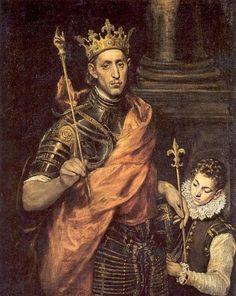 Lodewijk IX de Heilige. 1587/97 Schilderij door El Greco Frankrijk, Parijs, Louvre.