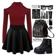 A fashion look from September 2015 featuring H&M backpacks, Topshop rings and Retrò sunglasses. Browse and shop related looks. Cute Emo Outfits, Bad Girl Outfits, Teenage Girl Outfits, Teen Fashion Outfits, Teenager Outfits, Edgy Outfits, Swag Outfits, Retro Outfits, Outfits For Teens