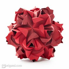 "The famous ""Little #Roses "" #Kusudama by © #MariaSinayskaya & Familly 