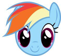 MLP - Rainbow Dash Headshot