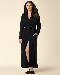 Soma Intimates Arlotta Long Cashmere Robe Black  somaintimates Cashmere  Yarn 32cd2555e