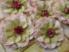 NEW  Paper Flowers  Set of 3  Pastel Springtime by PaperPastiche, $4.95
