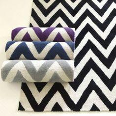 Chevron Stripe Hand Tufted Rug | Ballard Designs