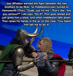 Thor & Loki's fight... OH HOW I LOVE IT.....